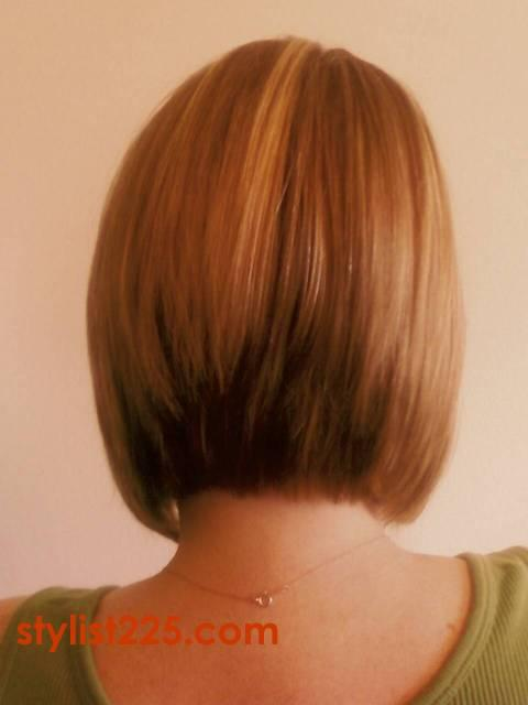 razor cut bob hairstyles. the Long Inverted Bob cut.